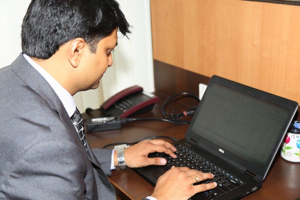 executive, laptop, business